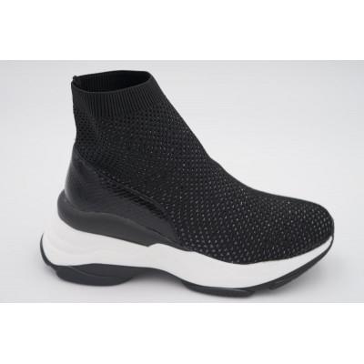 Sneakers socks noires semelle épaisse