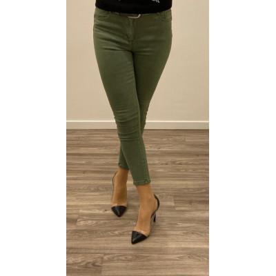 Jeans vert skinny push up