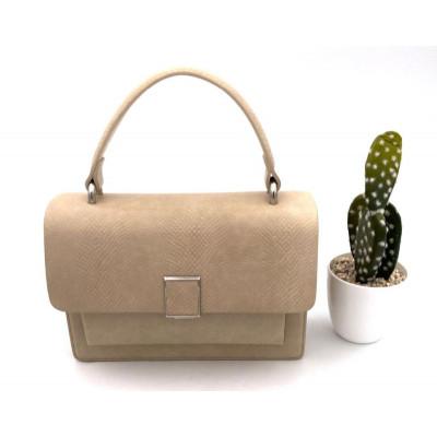 Petit sac à main simili-cuir beige inspiration
