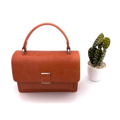Petit sac à main simili-cuir orange inspiration
