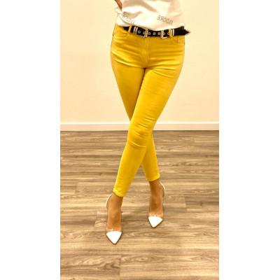 Jeans jaune skinny push up