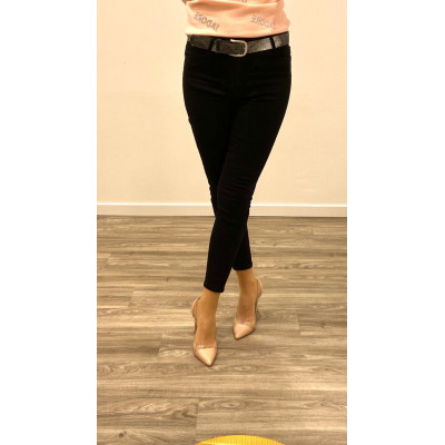 Jeans noir skinny push up