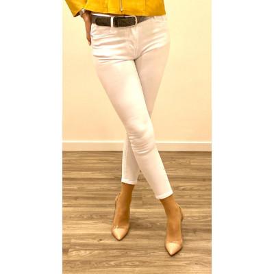 Jeans blanc skinny push up