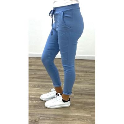 Pantalon summer bleu à lacet
