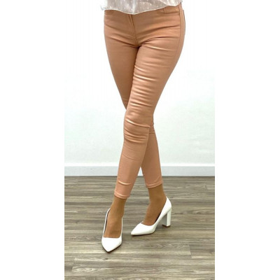 copy of Pantalon simili-cuir skinny beige