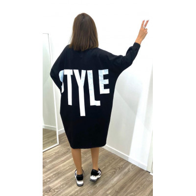 "Pull-Robe comfy ""Style"" noir"