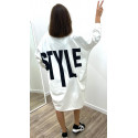 "Pull-Robe comfy ""Style"" blanc"