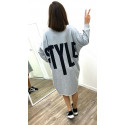 "Pull-Robe comfy ""Style"" gris"