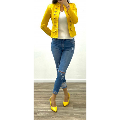 Jeans skinny bleu maxi destroy