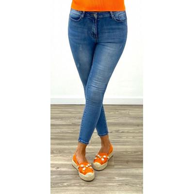 Jeans skinny bleu push-up