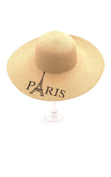 """Capeline en paille """"Paris"""""""