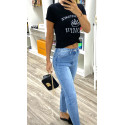 Jeans mom taille haute