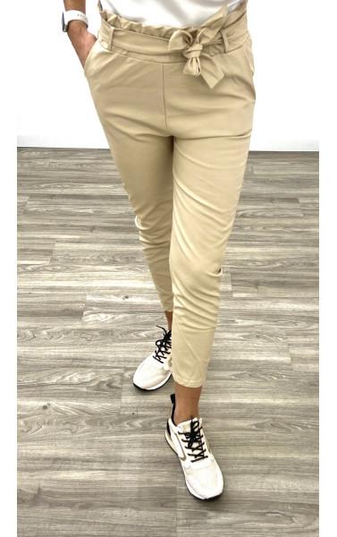 Pantalon chino simili cuir