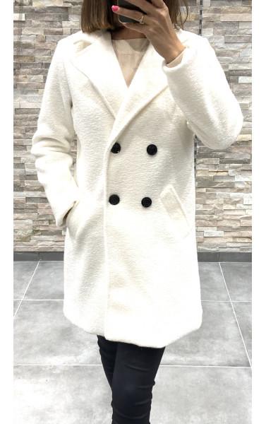 Manteau coupe boyfriend à poche