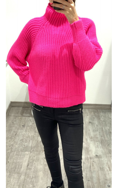 Pull en maille col montant