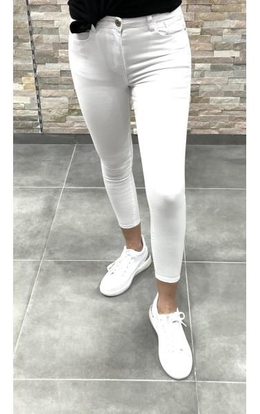 Jeans slim blanc basic
