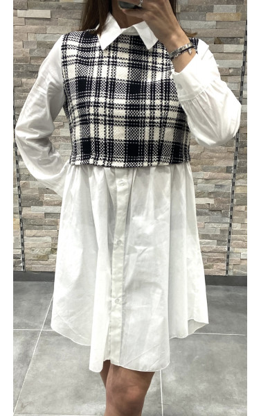 Robe chemise effet oversize