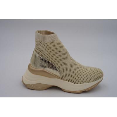 Sneakers socks beiges semelle épaisse