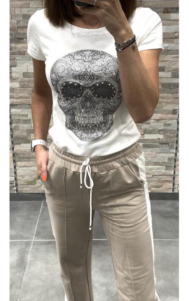 T-shirt imprimé tête de mort
