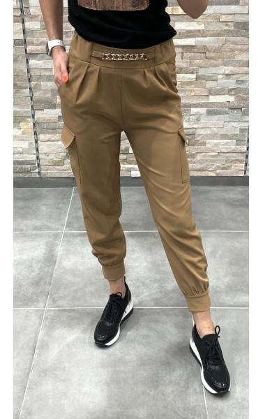 Pantalon cargo classe fendu