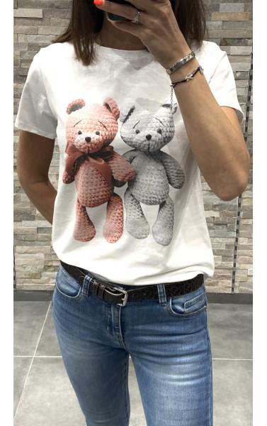 T-shirt avec imprimé d'ours