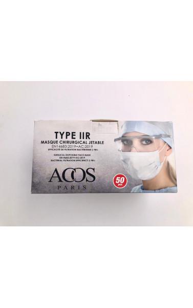 Boite de 50 masque noir chirurgical type IIR