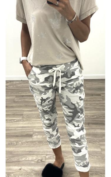 Pantalon jogger camouflage