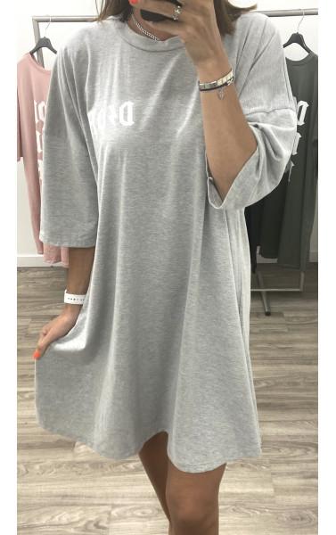 Robe T-shirt oversize avec flocage à motif D/OR
