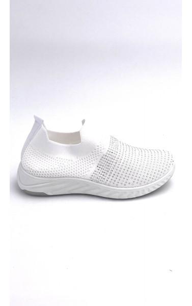 Baskets chaussettes à strass avec semelle plateforme